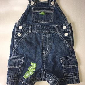 Gymboree Turtle Crossing Overalls 3-6 Months
